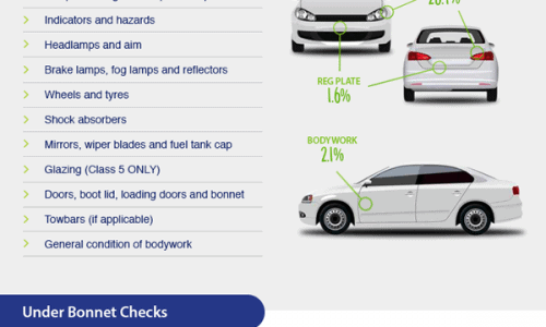 What's Checked on an MOT Test Infographic