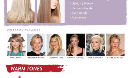 Best hair color for your skin infographic