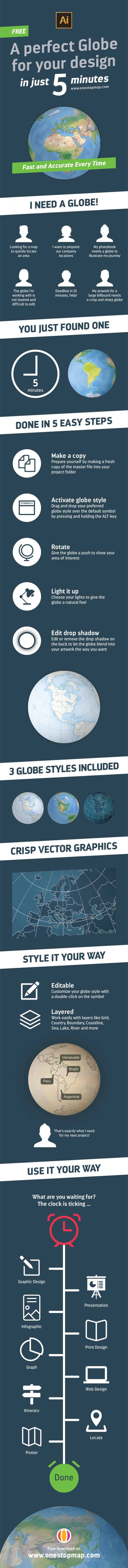 A Perfect Globe For Your Design Infographic