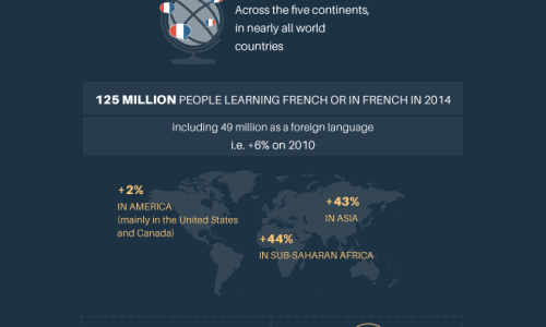 French the 5th important world language infographic