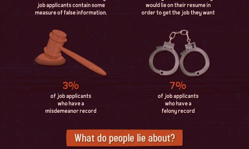 Truth About Lying on Resumes Infographic