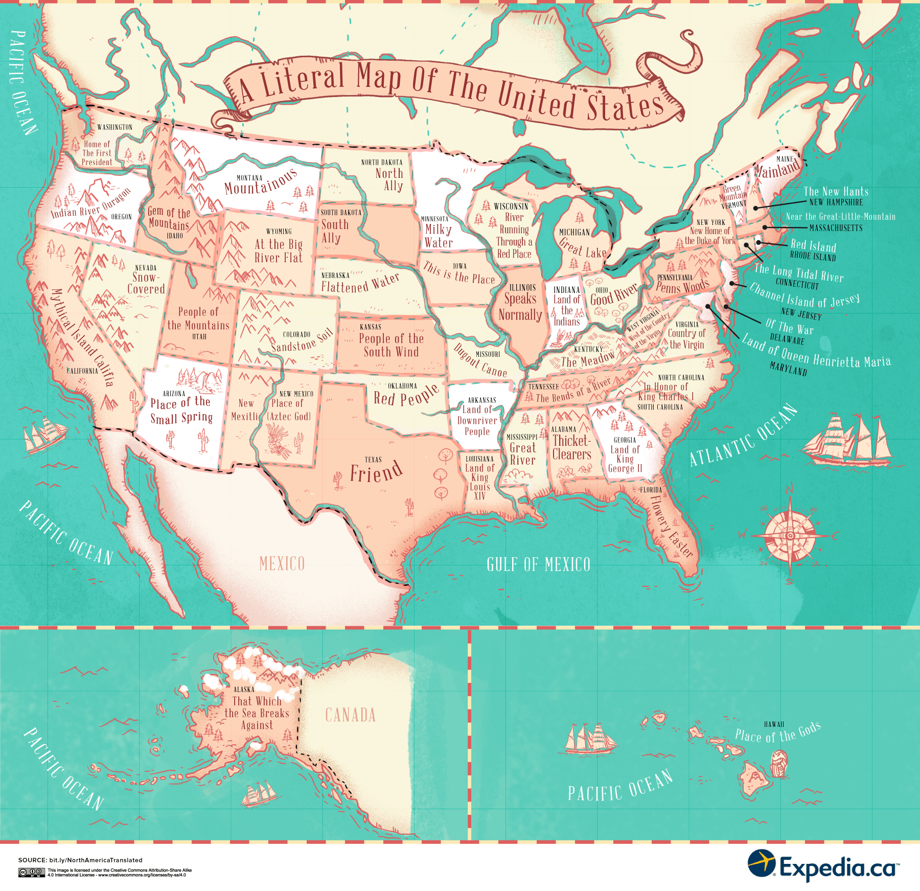 A Literal Translation Of Places In The United States