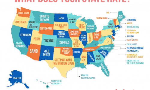 What americans hate in every state