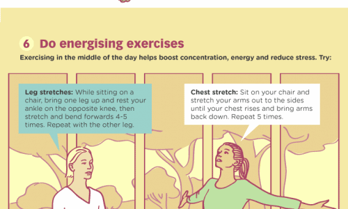 9 Habits of People Who Always Stay Fit. Morning Routine, At Work, Lunch Break, Evenings, Before Bed.