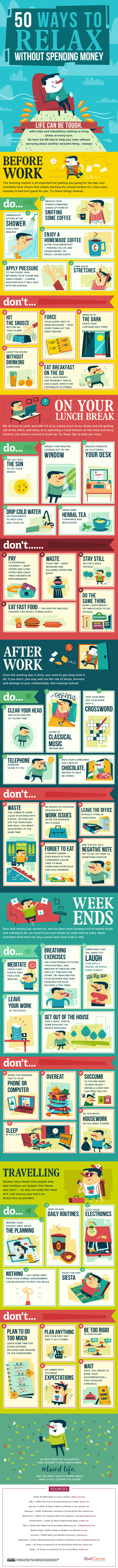Infographic that will teach you how to relax your mind and body.