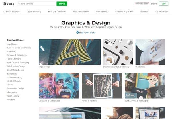 Fiverr graphic design services