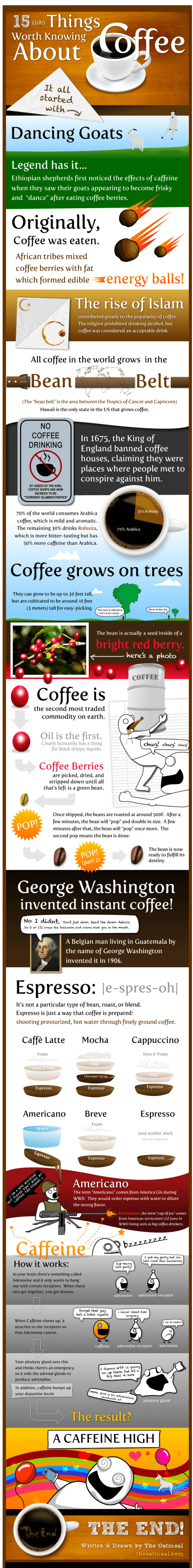 images of 15 facts about coffee