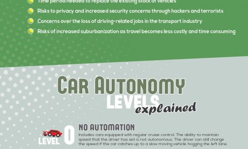 infographic describes the future of self-driving cars, including elon musk's thoughts on where the industry is heading