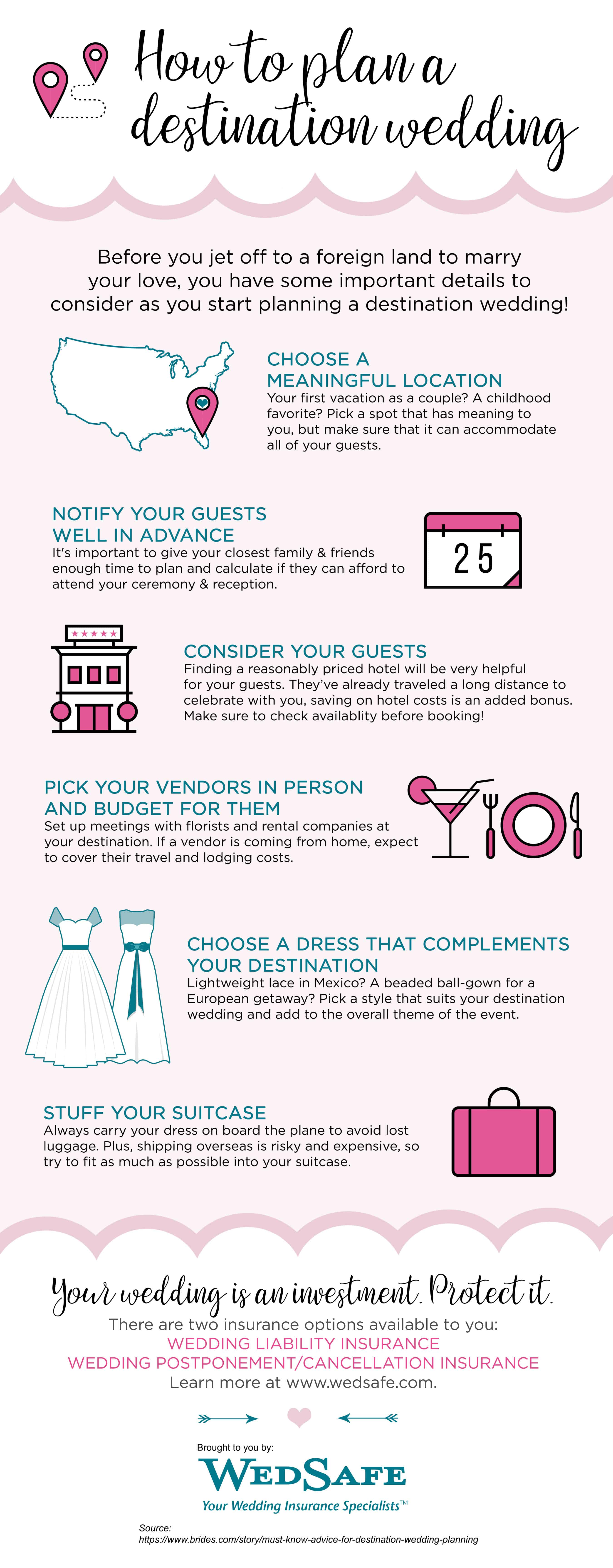 Tips For Planning A Destination Wedding Daily Infographic
