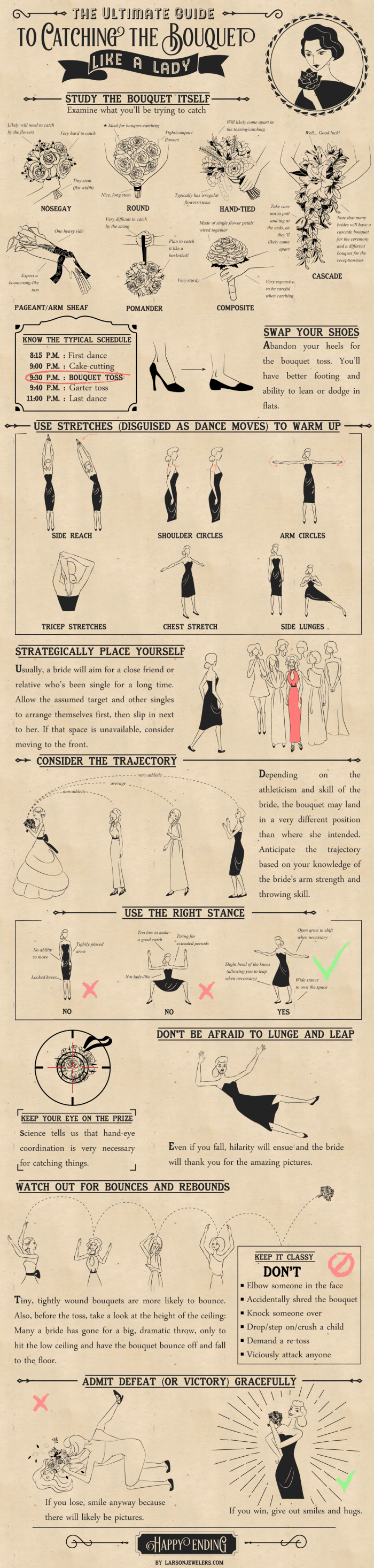 Ultimate Guide To catching the bouquet like a lady