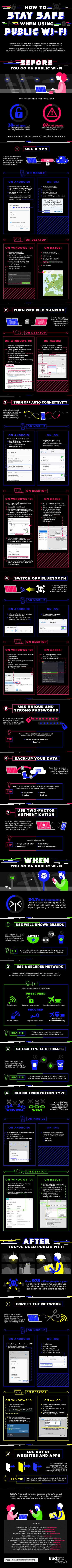 Staying Safe on Public WiFi Infographic