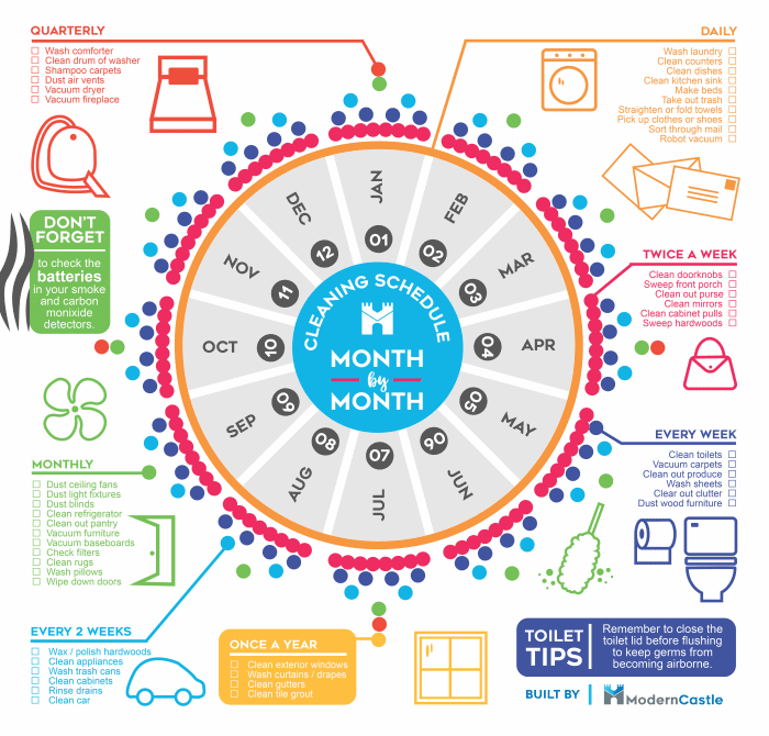 ultimate cleaning schedule infographic