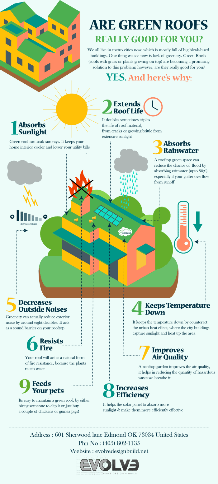 Showing why green roofs are beneficial for many different reasons
