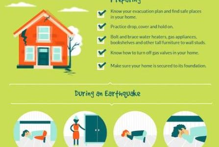 shows the steps you should take in case of a natural disaster