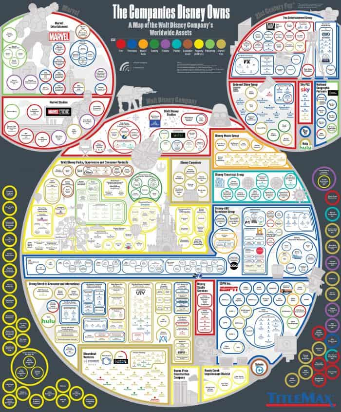 A Map of the Walt Disney Company's Worldwide Assets