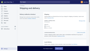 shipping and delivery options with shopify