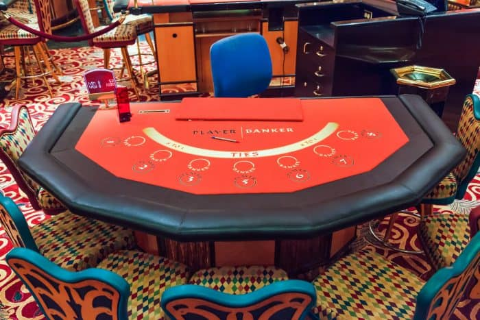 gambling table