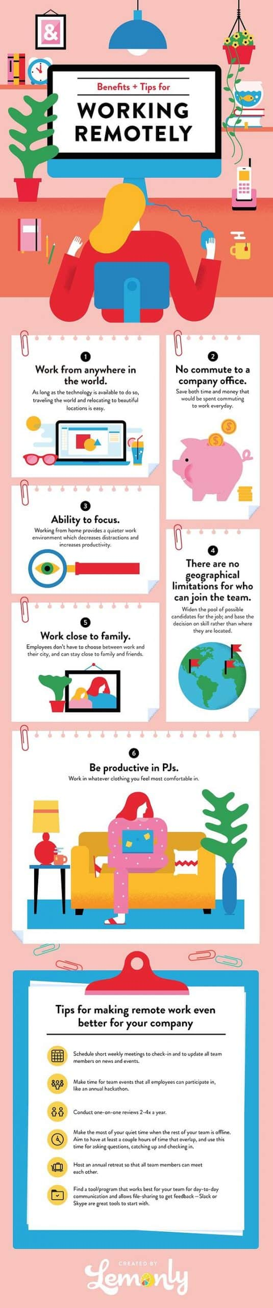 Tips-and-Tricks-for-working-from-home-remote-work-infographic-lemonly