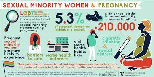 Information about LGBTQ+ pregnancy rates and struggles